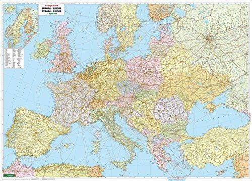 Europa politisch, Poster 1:3,5 Mio., Plano in Rolle (freytag & berndt Poster + Markiertafeln)
