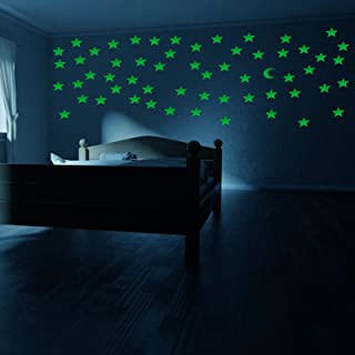201 Pack Luminous Wall Stickers Ultra Brighter Glow in The Dark Stars Free Constellation Guide Moon Stars Perfect for Chid...