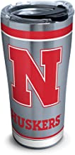 Tervis NCAA Nebraska Cornhuskers Tradition Stainless Steel Tumbler, 20 oz, Silver