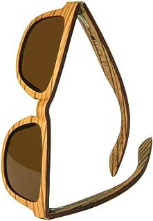 WOLA - estilo cuadradas gafas de sol en madera AERO mujer y hombre madera, sunglasses UV400 - polarisado