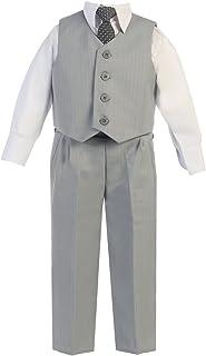 Lito Little Boysライトグレーベストパンツ特別な機会イースター衣装セット2?–?7