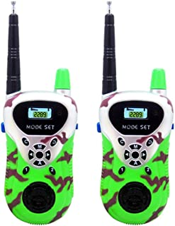 Tiean 2Pcs Wireless Walkie Talkie Kids Electronic Toys Portable Two-Way Radio (Green)