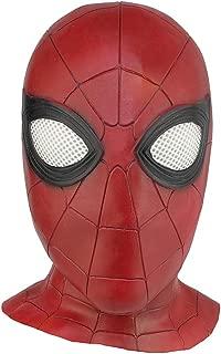 Homecoming Spider Man mask Halloween mask Emulsion Cosplay Helmet Headgear Red