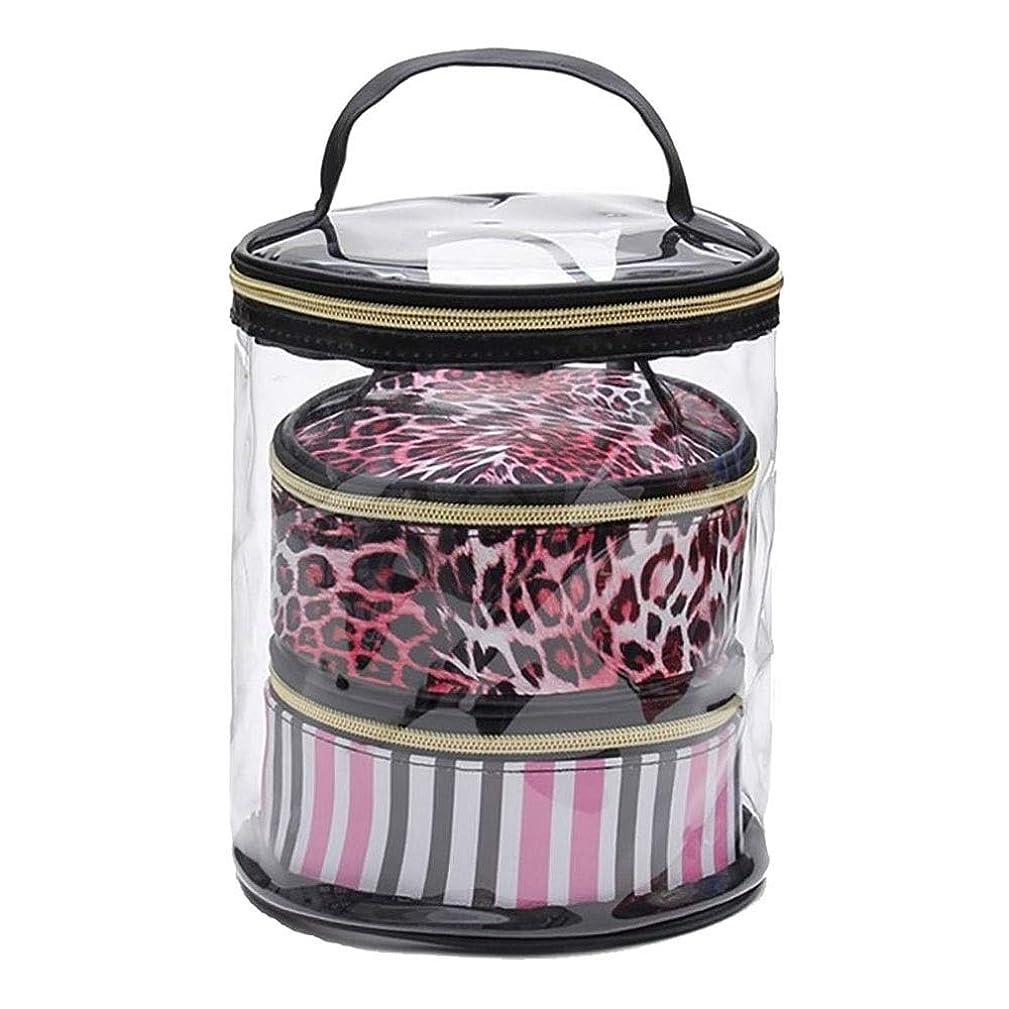 香港田舎者反論化粧品バッグ 収納袋セット ポータブル 旅行 化粧ブラシ用 ウォッシュバッグ 防水 PVC 透明 ハンドルとジッパー付き ツールキット
