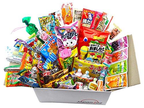 Japanisches Süßigkeiten-Set und Snack Sortiment 105 Stück