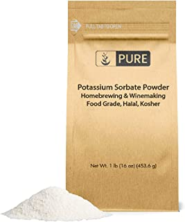 Potassium Sorbate (1 lb) Food and USP Pharmaceutical Grade For Use in Cooking, Brewing, & Cosmetics
