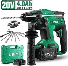 20V 1 Inch SDS Plus Rotary Hammer Drill, Brushless Cordless Demolition Hammer Kit w/..