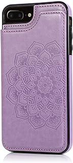 MOONCASE Capa para iPhone 7 Plus / 8 Plus, Suave Couro PU Magnéticos Botões Padrão de Mandala À Prova de Choque Flip Carte...