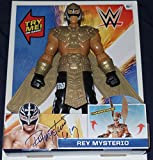 Rey Mysterio Signed Auto'd Action Figure Bas Coa Wwe Ecw Wcw Aaa Lucha Mask B - Autographed Wrestling Cards