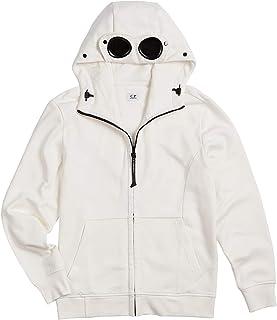 C.P.Company - Felpa Casual in Cotone con Goggle Hood per Uomo, Design Stile Anni '80