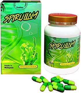 Spirulina Capsules For Slimming 50 Capsules, Made in Malaysia
