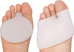 4 Piece - Half Toe Bunion Sleeve and Metatarsal Pad Set - Dr. Feel Good Feet - Rapid Pain Relief for Ball of Foot Cushions - Prevent Calluses - Blisters - Men and Women