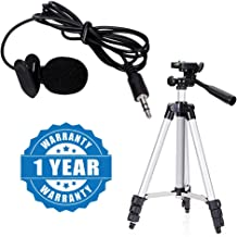 Drumstone Microphone with Mini Hands-free Clip on Lapel Mic for Camera Recorders Compatible with All Smartphones (Multicolour)