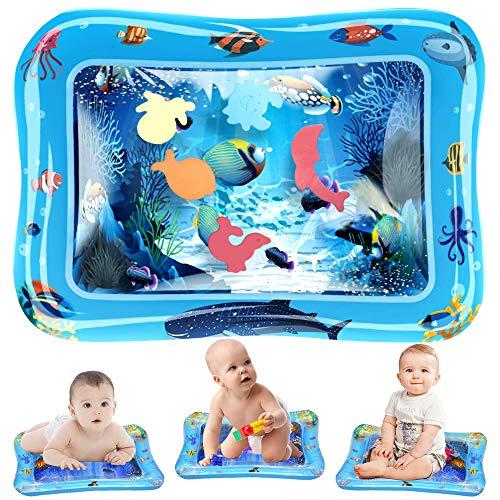 Wassermatte Baby, phixilin Aufblasbare Wasserspielmatte Baby Spielzeug 3 6 9 Monate PVC Wassergefüllte Spielmatte für Frühe Entwicklung des Säuglings Perfektes Sensorisches Spielzeug (26'' x 20'')