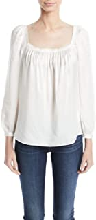 Rebecca Taylor Women's Long Sleeve Charmeuse Top