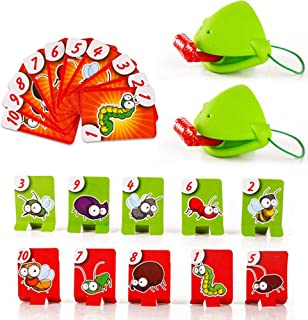 Tongue Catch Bugs Game, Funny Family Desktop Game Interactive Toys, Lizard Tongue Eating Pest Board Game, Educational Toy ...