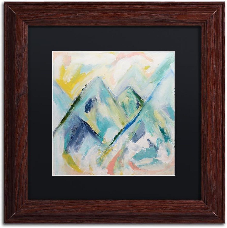 Trademark Fine Art Mile High by Carrie Schmitt Wall Art, Black Matte, Wood Frame 11x11