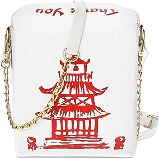 KEHAOX Damen modische Umhängetasche, chinesische Takeout-Box-Stil, Clutch für Mädchen