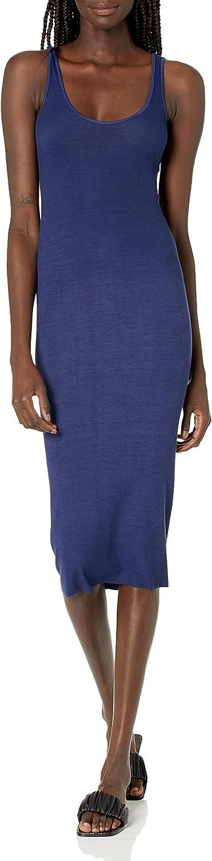 Dallas Mall Enza Costa Women's Stretch Silk Dress Tank Directly managed store Midi Rib