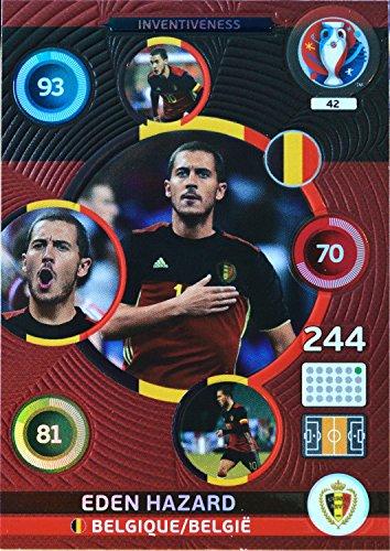 carte PANINI EURO 2016 #42 Eden Hazard