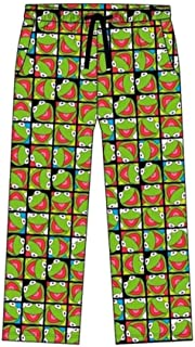 Mens Kermit The Frog Lounge Pants Pyjama Bottoms Muppets Character Nightwear