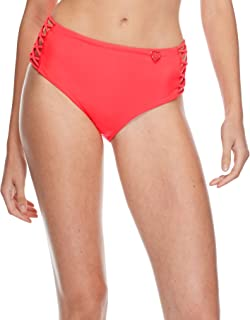 Women's Smoothies Retro Solid High Rise Strappy Bikini Bottom Swimsuit