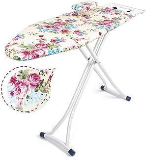 ZB-KK Grande Table à Repasser en métal, Couleur en Coton imprimé Couverture Table à Repasser Salle de Lavage Magasin de vê...