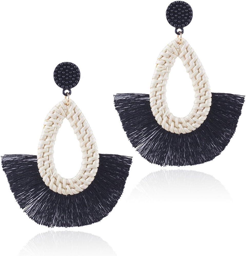 threader earring tassel earrings tribal jewelry White boho earrings Bohemian earring with wood cone and wood bead