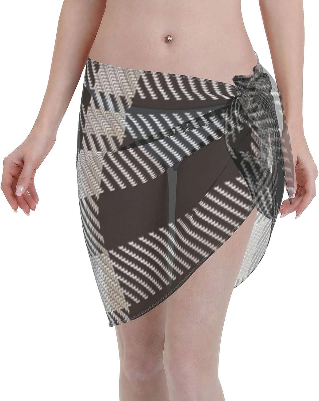 2053 pants Moonlight Glen Tartan Women Chiffon Beach Cover ups Beach Swimsuit Wrap Skirt wrap Bathing Suits for Women