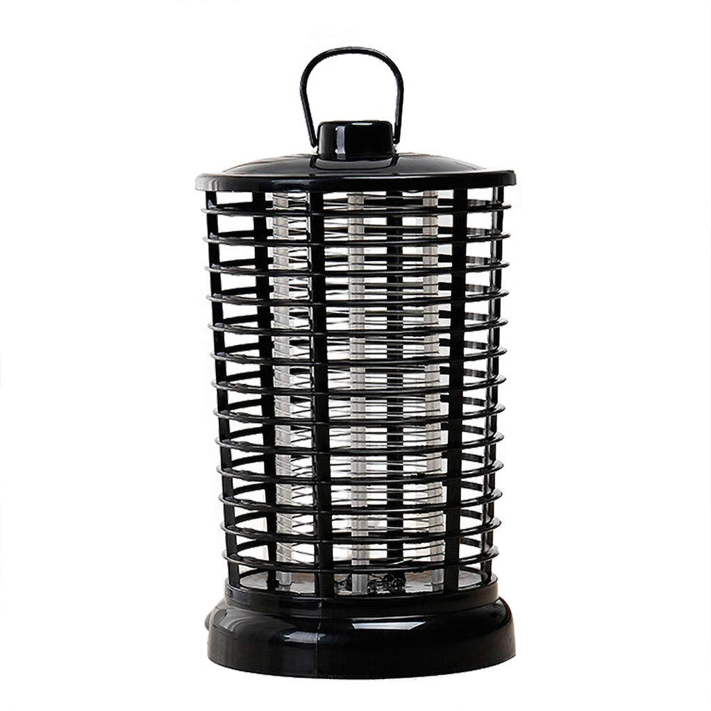 CreazyBee Electric Bug Zapper with Light Hook Portable Standing Or Hanging Light for Home Office Indoor and Outdoor Use (Black)
