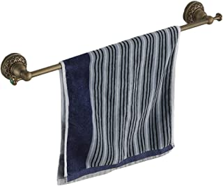 Beelee bathroom carved hand towel bar,copper,Antique Brass,24 inch,single rack,wall mounted
