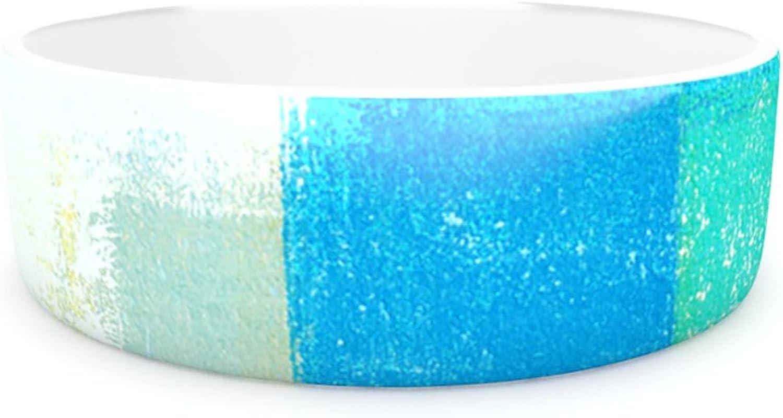 Kess InHouse CarolLynn Tice Shallow  Pet Bowl, 7Inch, Cool bluees
