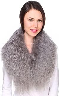 Ferand Ladies Genuine Luxury Mongolian Lambswool Fur Womens Collar Scarf for Outwear Coat