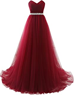 Strapless Empire-Waist Long Prom Evening Dresses 2018 Affordable