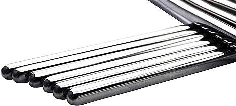 1 Pair Chopsticks Metal reusable Chinese Style Stainless L0Z0 Stäbch Steel M6B6