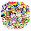 COOLCOOLDE Water Bottle Stickers Gay Pride Stickers 60 pcs Bright Technicolor Rainbow Stickers Car Bike Scooter Suitcase… |