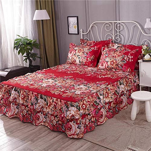 GTWOZNB Non Iron Soft Poly-Cotton Plain Dyed Flat Bed Sheet Single, King Available All-inclusive bed sheet bed skirt-8_1.5 * 2m