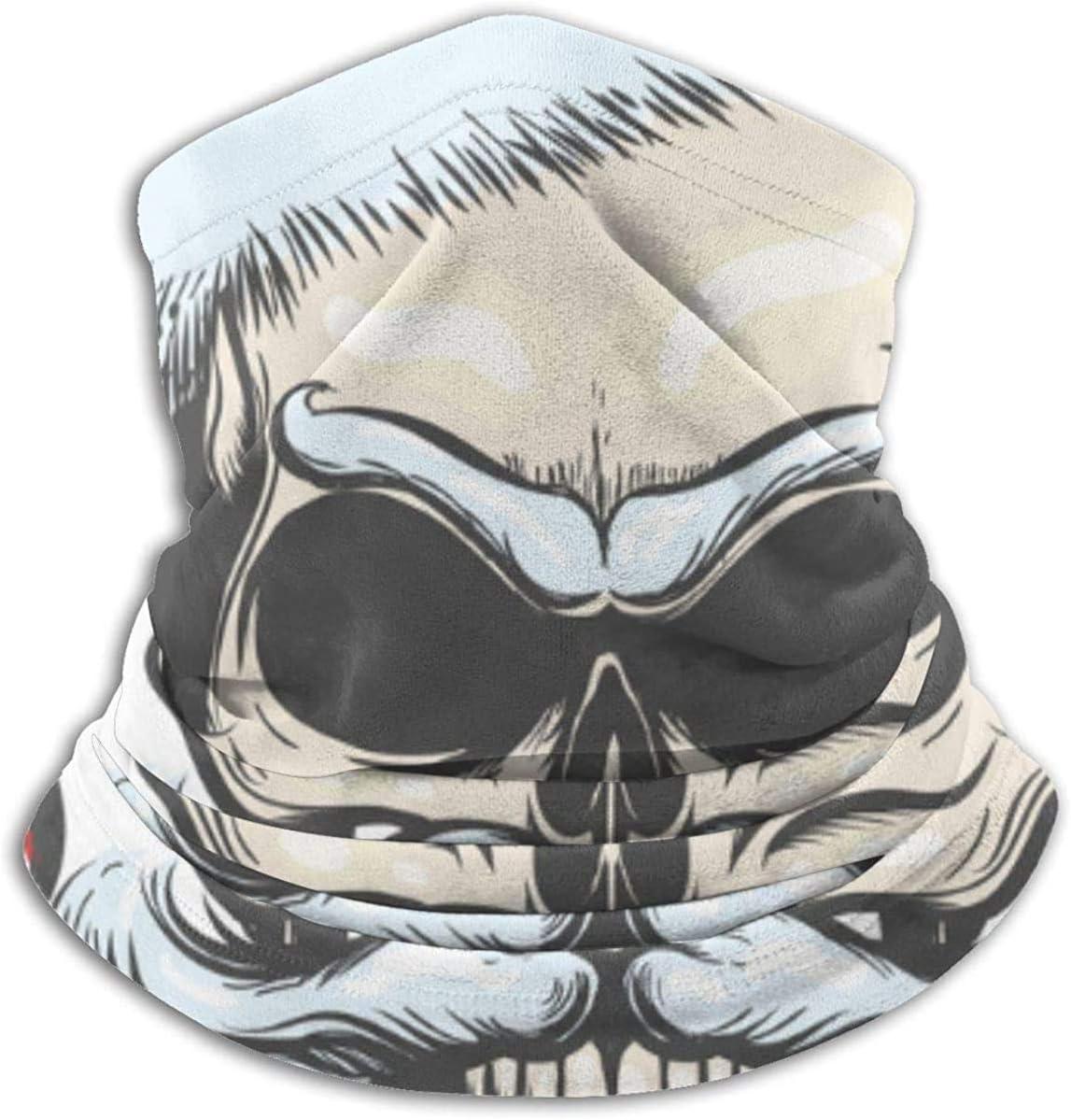 Lastbest The Skull of Santa Claus Neck Warmer Multifunction Scarf Hat Neck Gaiter Neck Cap Bala Windproof Neck Heating Wrap Outdoor Sports