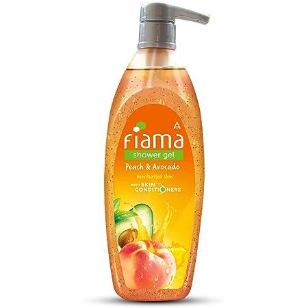 Fiama Shower Gel Peach & Avocado, Body Wash with Skin Conditioners for Soft Moisturised Skin, 500 ml pump