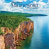 Minnesota Wild & Scenic 2021 12 x 12 Inch Monthly Square Wall Calendar, USA United States of America Midwest State Nature