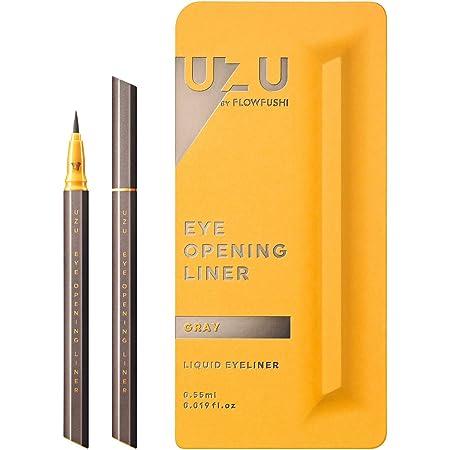 UZU BY FLOWFUSHI (ウズバイフローフシ) アイオープニングライナー [グレー] リキッドアイライナー お湯オフ アルコールフリー 染料フリー 低刺激性