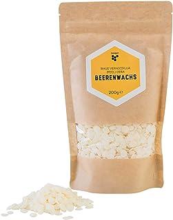 beegut Beerenwachs/Japanwachs rhus verniciflua cera, vegane Bienenwachs-Alternative, pflanzliches Wachs für eigene Naturkosmetik, 200g