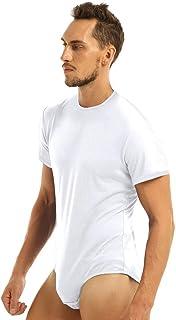 IEFIEL Chemise Homme Justaucorps Danse Tango Latin Body Shirt de Bal Debardeur Gainant Ventre Plat Amincissante Abdo Haut de Maillots de Corps