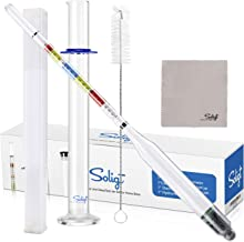 SOLIGT Triple Scale Hydrometer and Glass Jar for Wine, Beer, Mead, Cider & Kombucha-ABV, Brix and Gravity Test Kit