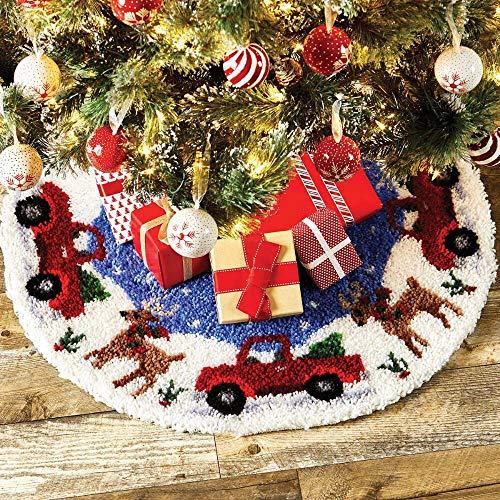 Herrschners Woodland Christmas Tree Skirt Latch Hook Kit