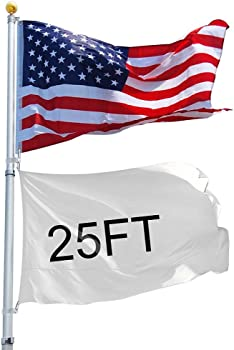 25ft Aluminum Sectional Flag Halyard pole Kit