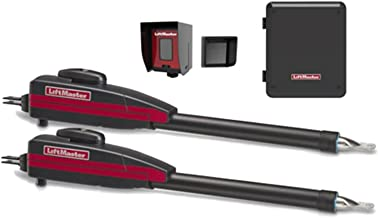 Liftmaster LA400PKGU Dual Swing Gate Opener Kit, Battery Backup, Receiver & Photocell, Gate Sensor Included!