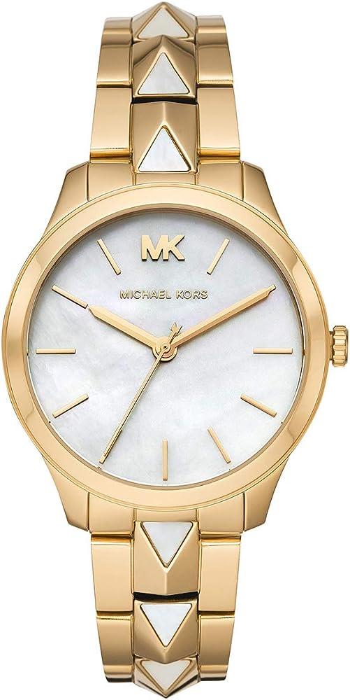 Michael kors, orologio per donna,in acciaio inossidabile e quadrante in madreperla MK6689