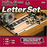 Milescraft 2202 1-1/2' Horizontal Character Template Set FOR Sign making System