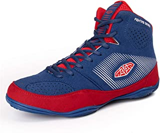 Adult Boxing Shoes, Low Top Fighting Sneakers Buffer Anti-Skid Breathable Profession Wrestling Fitness Trainers